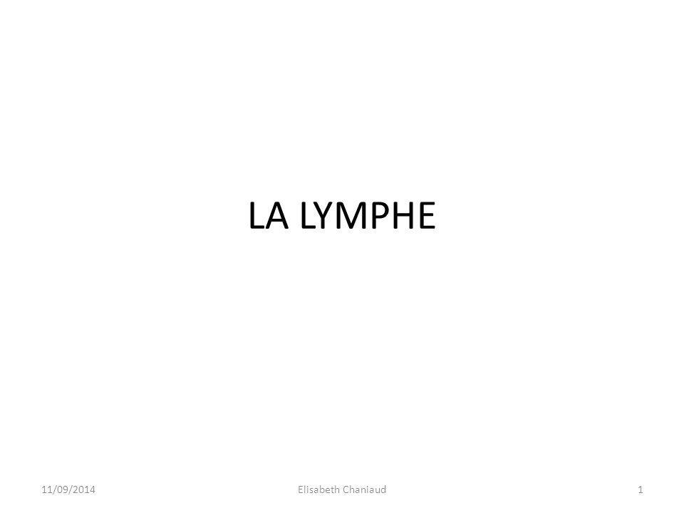LA LYMPHE 31/03/2017 Elisabeth Chaniaud