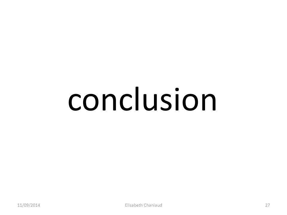 conclusion 31/03/2017 Elisabeth Chaniaud