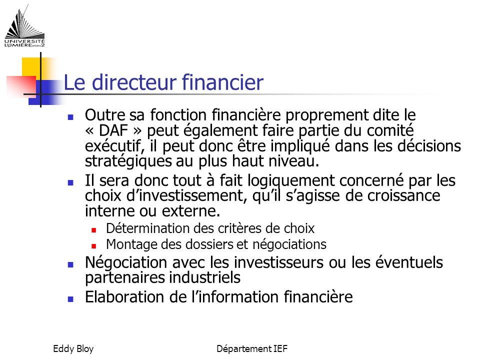 Le directeur financier