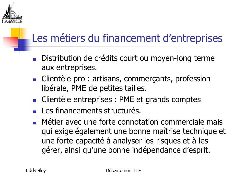 Les métiers du financement d'entreprises