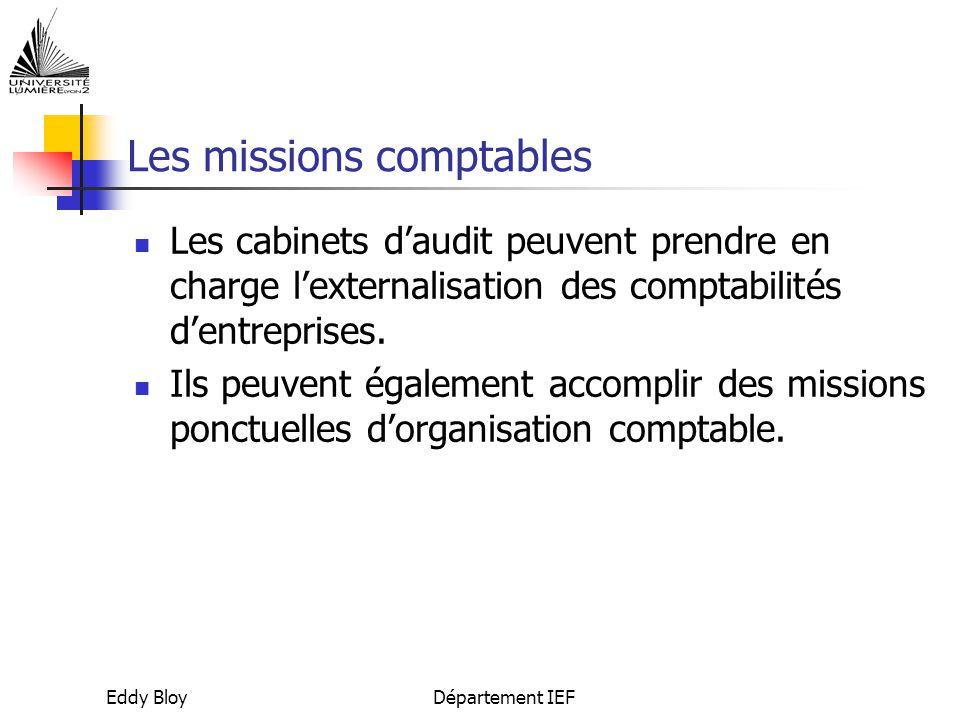 Les missions comptables