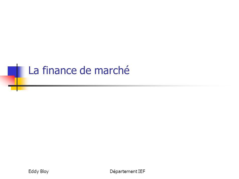 La finance de marché Eddy Bloy Département IEF