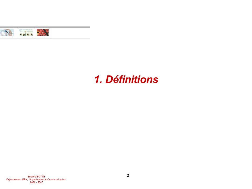 1. Définitions 2