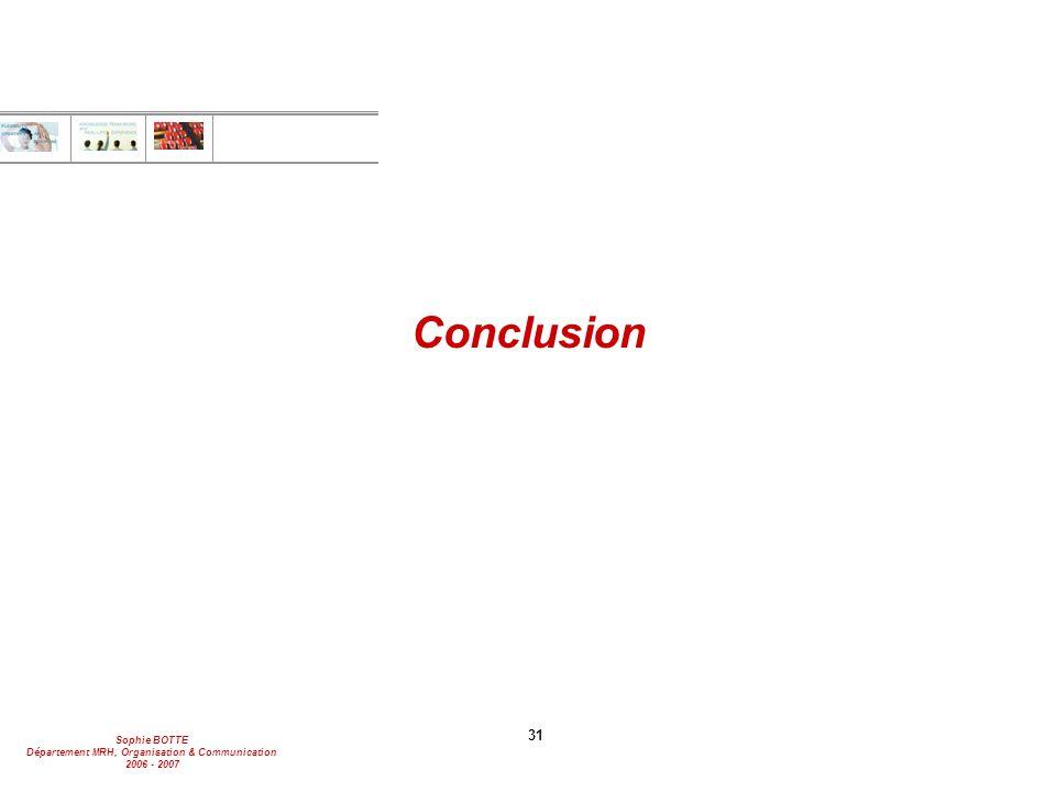 Conclusion 31