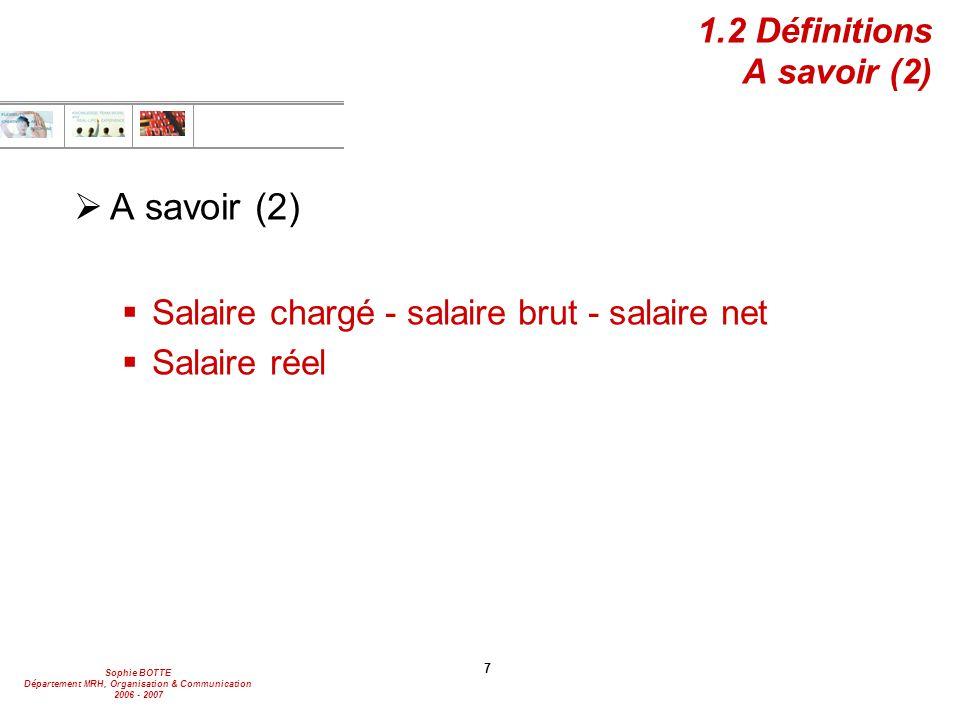 1.2 Définitions A savoir (2)