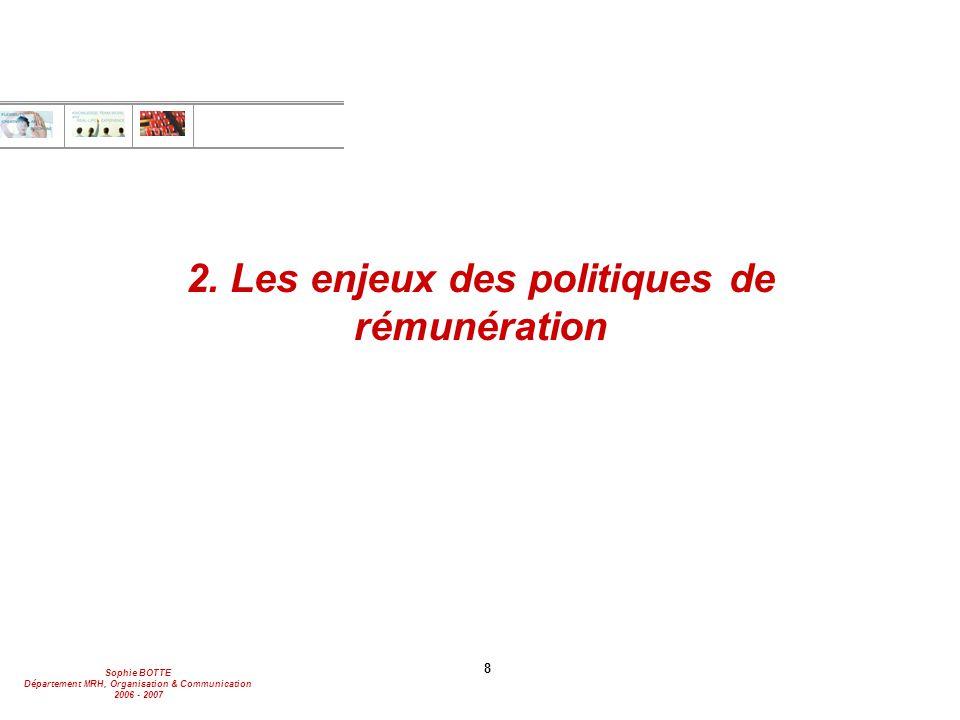 2. Les enjeux des politiques de rémunération