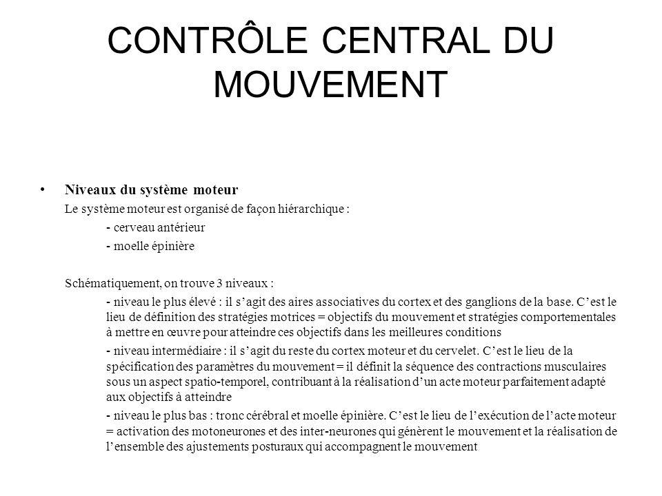 CONTRÔLE CENTRAL DU MOUVEMENT