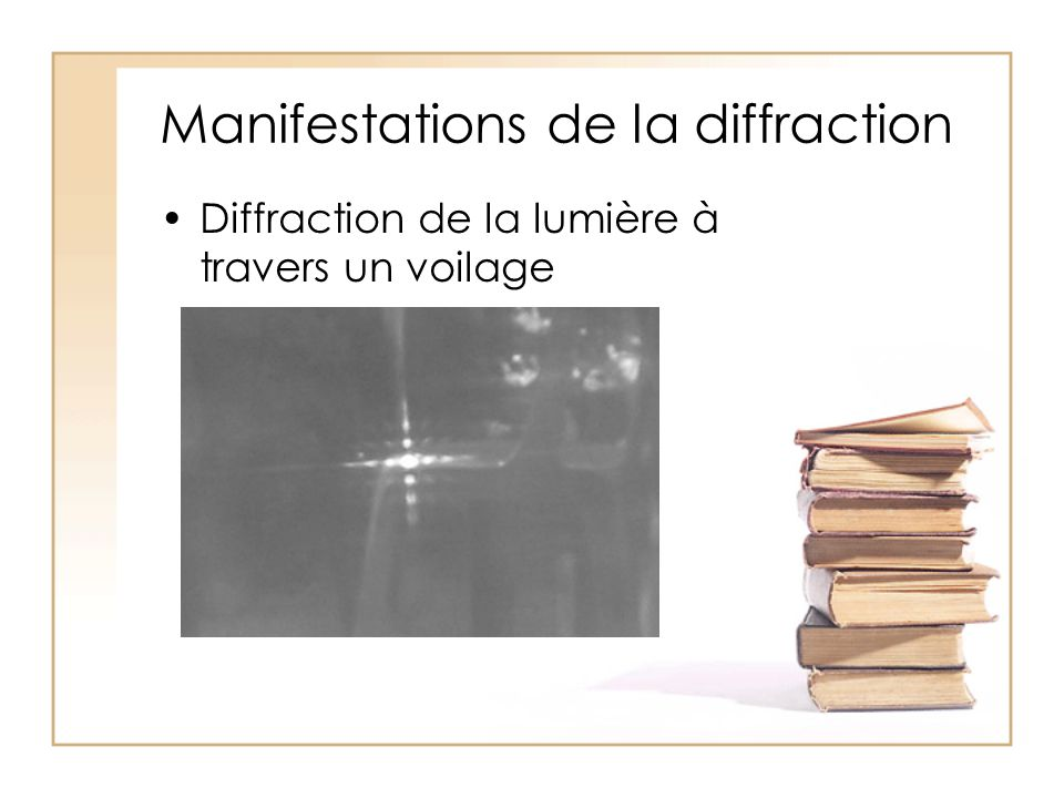 Manifestations de la diffraction