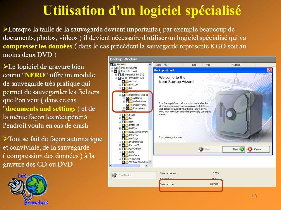 Utilisation d un logiciel spécialisé