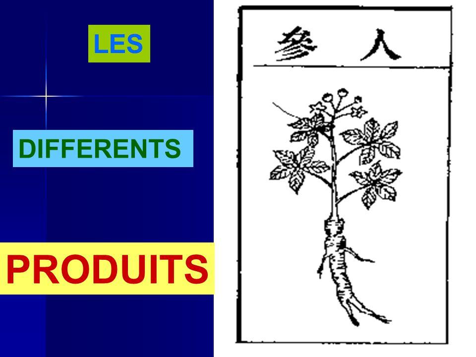 LES DIFFERENTS PRODUITS