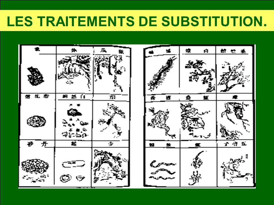 LES TRAITEMENTS DE SUBSTITUTION.