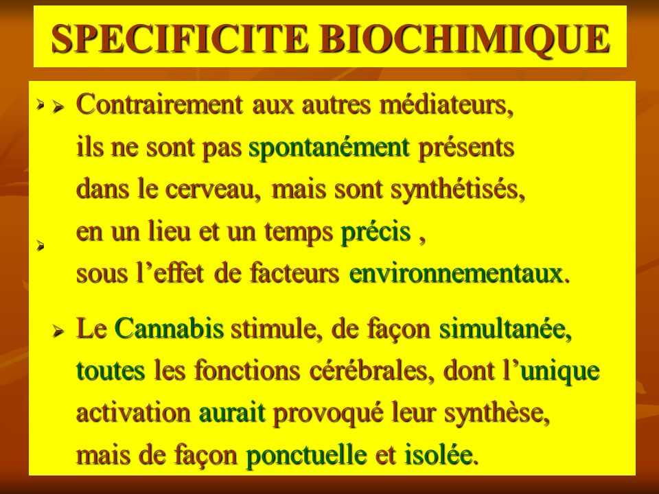 SPECIFICITE BIOCHIMIQUE