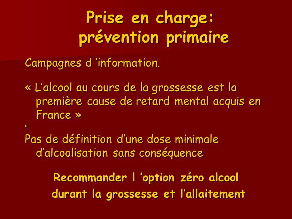 Prise en charge: prévention primaire
