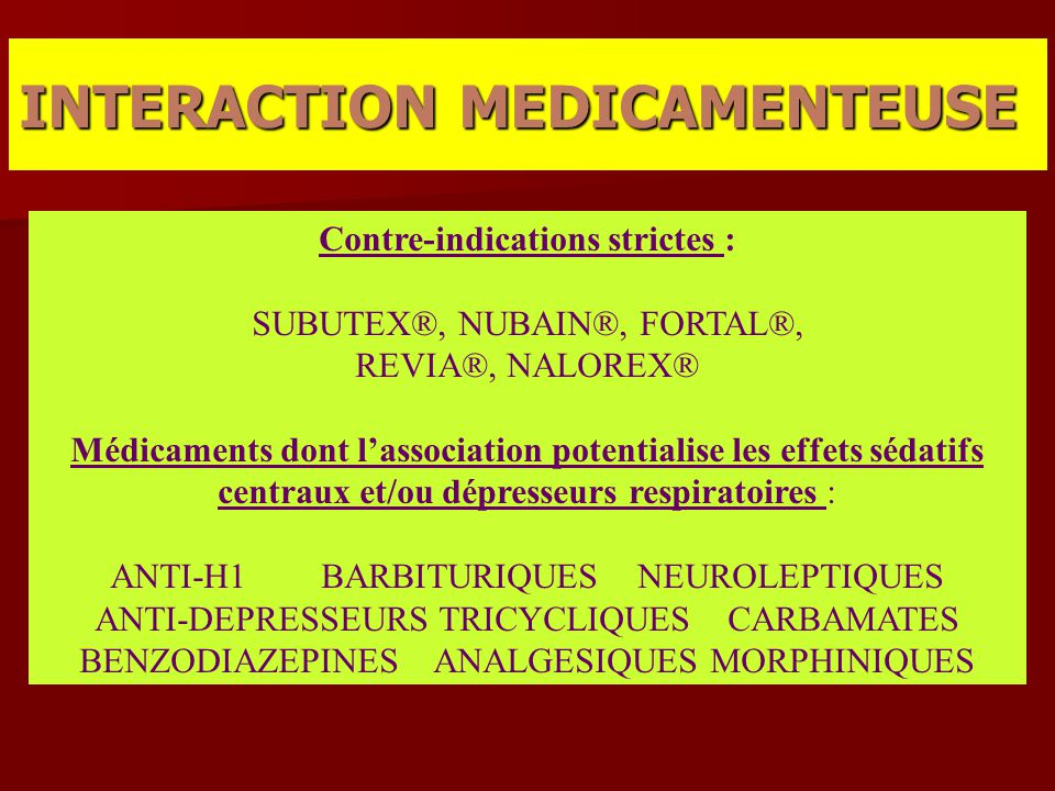 INTERACTION MEDICAMENTEUSE
