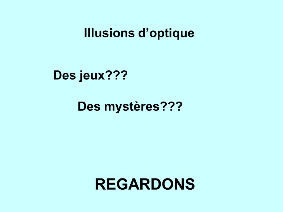 Illusions d'optique Des jeux Des mystères REGARDONS