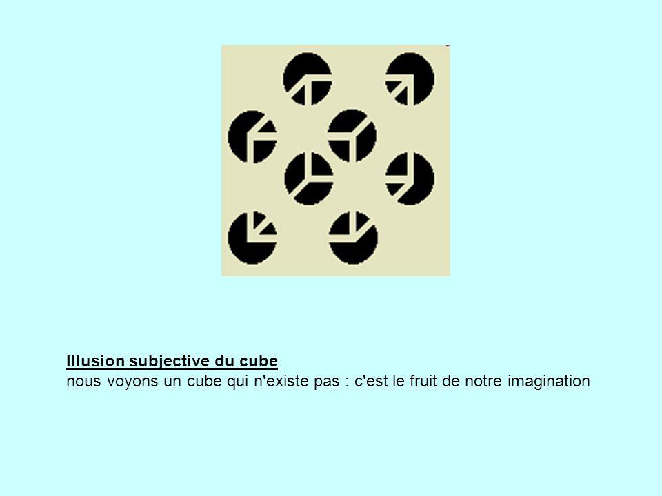 Illusion subjective du cube nous voyons un cube qui n existe pas : c est le fruit de notre imagination