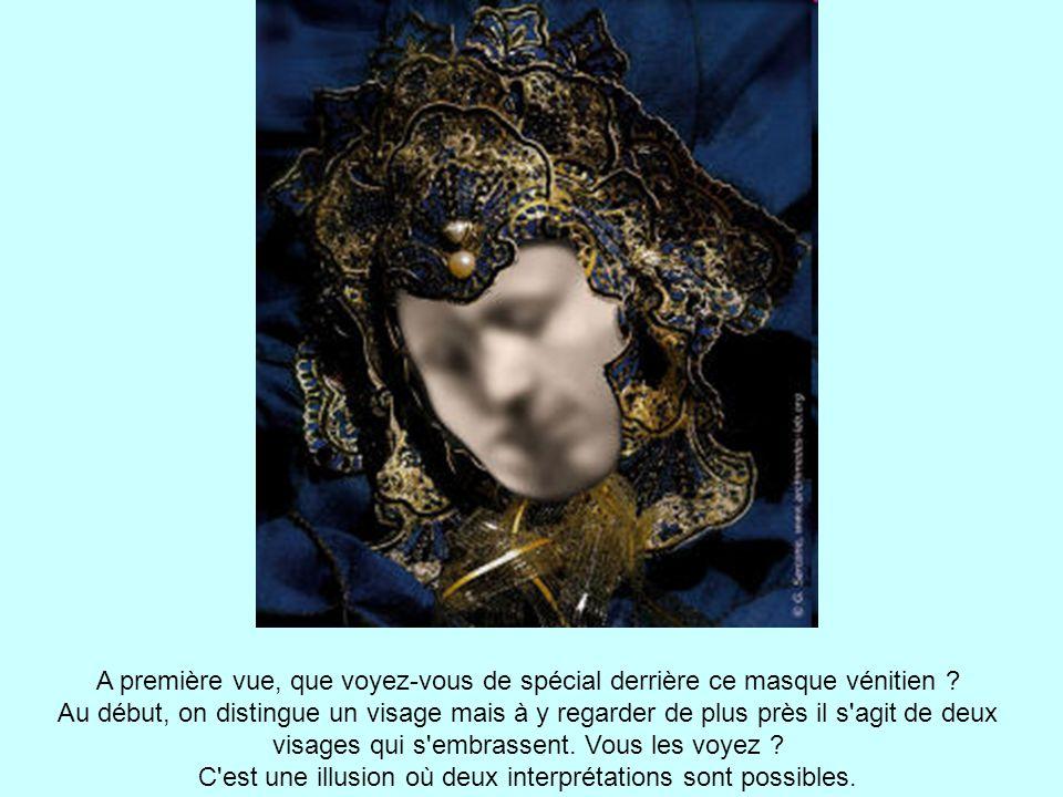 A première vue, que voyez-vous de spécial derrière ce masque vénitien