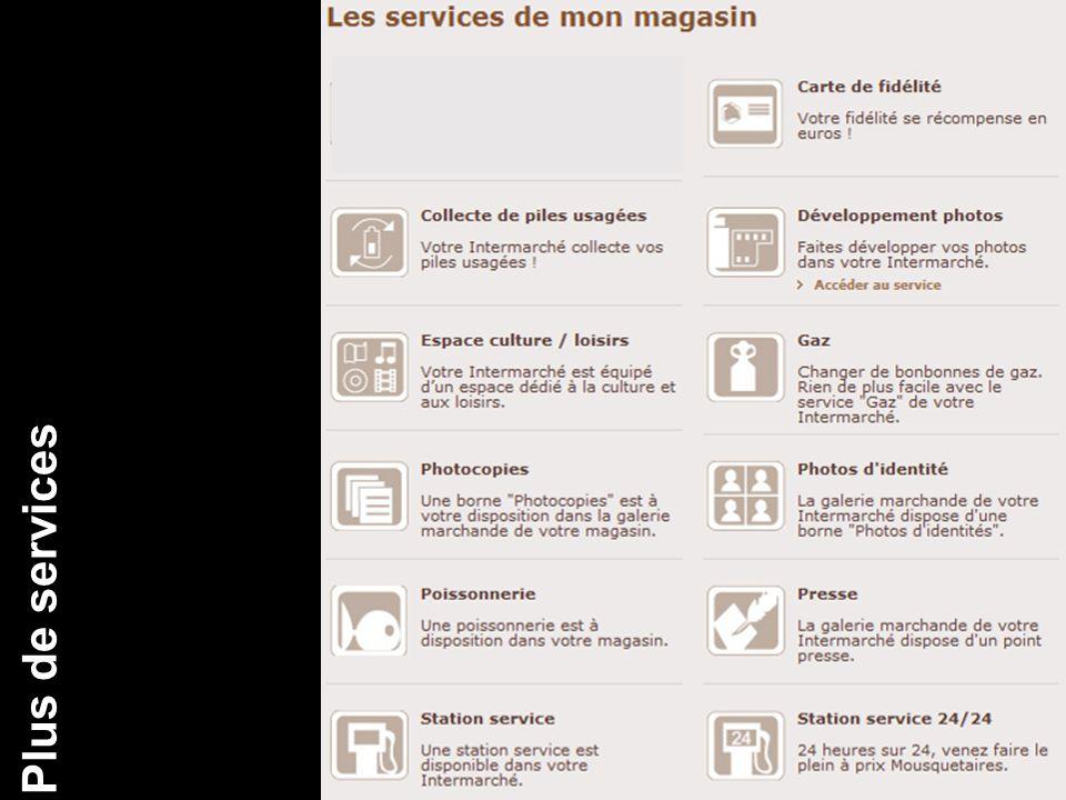 Plus de services CA
