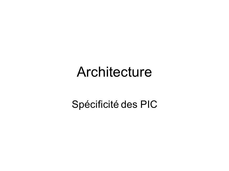 Architecture Spécificité des PIC