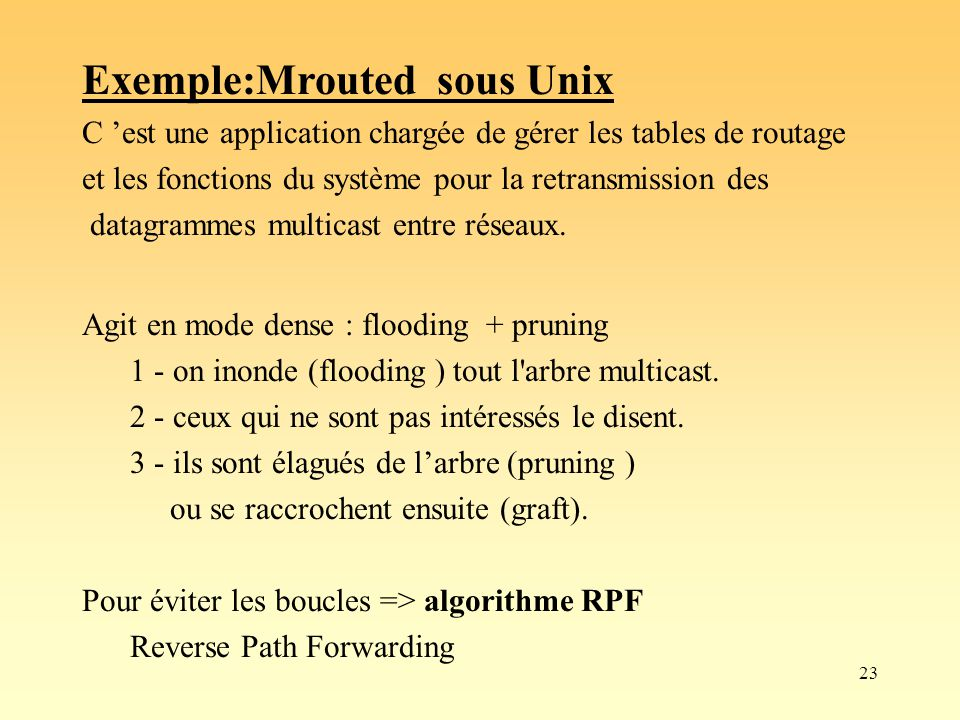 Exemple:Mrouted sous Unix
