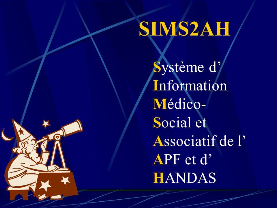 SIMS2AH Système d' Information Médico- Social et Associatif de l'