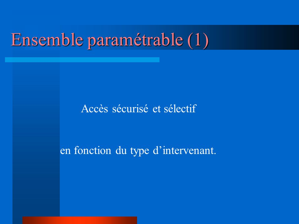 Ensemble paramétrable (1)
