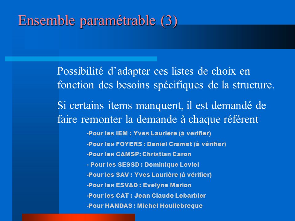 Ensemble paramétrable (3)