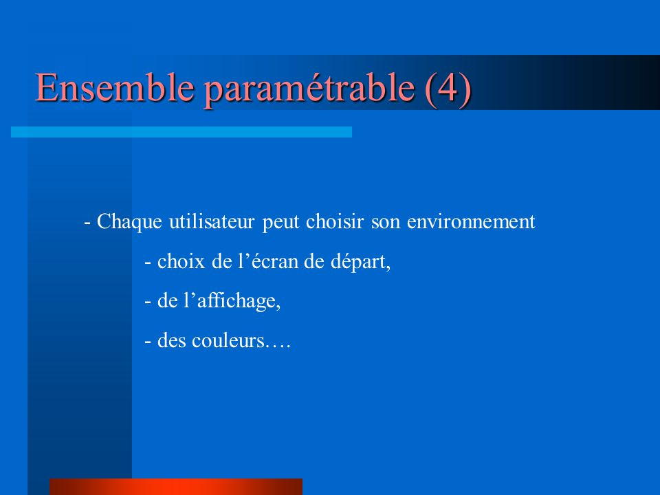 Ensemble paramétrable (4)