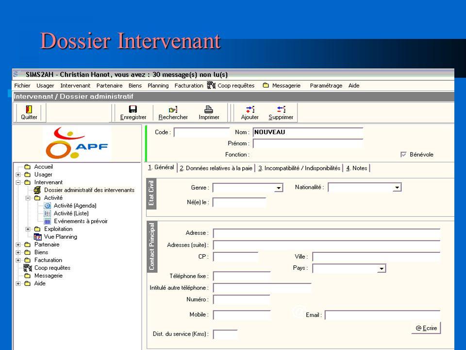 Dossier Intervenant