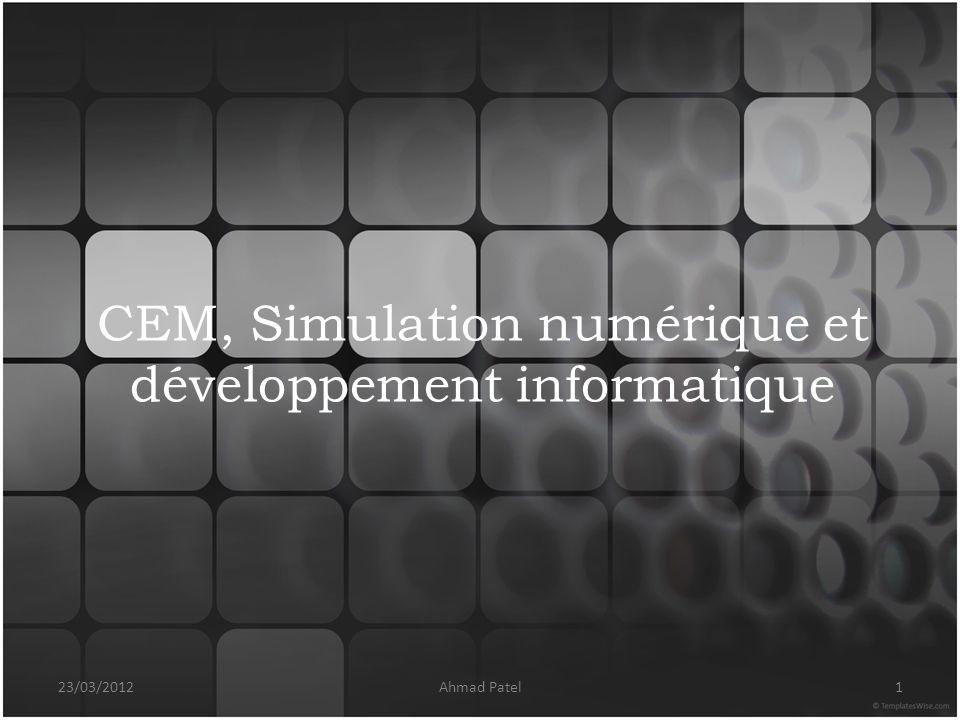 CEM, Simulation numérique et développement informatique