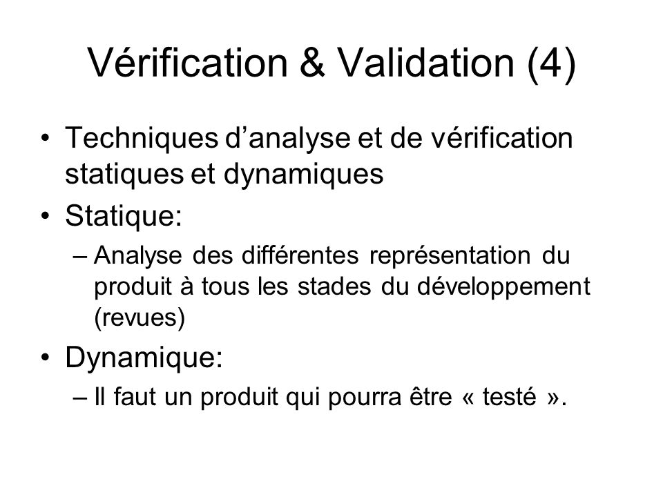 Vérification & Validation (4)