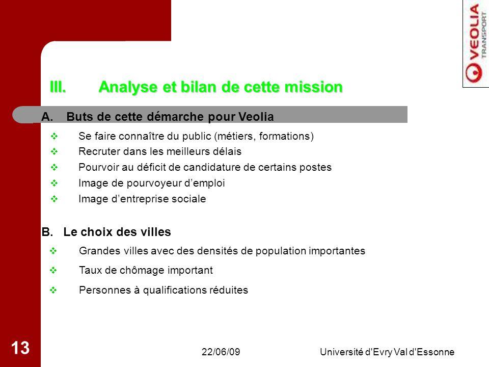 Analyse et bilan de cette mission
