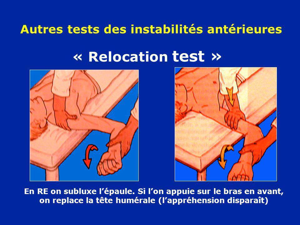 Autres tests des instabilités antérieures