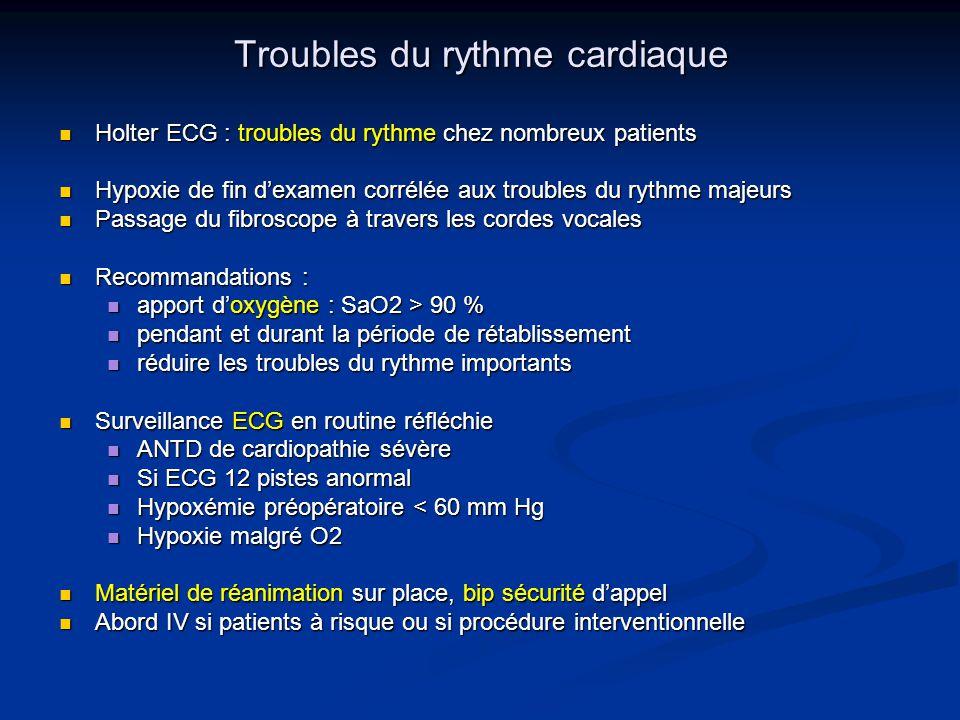 Troubles du rythme cardiaque