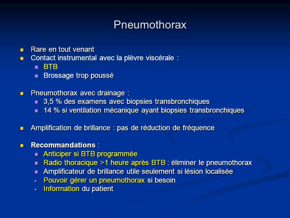 Pneumothorax Rare en tout venant