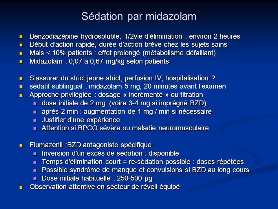 Sédation par midazolam