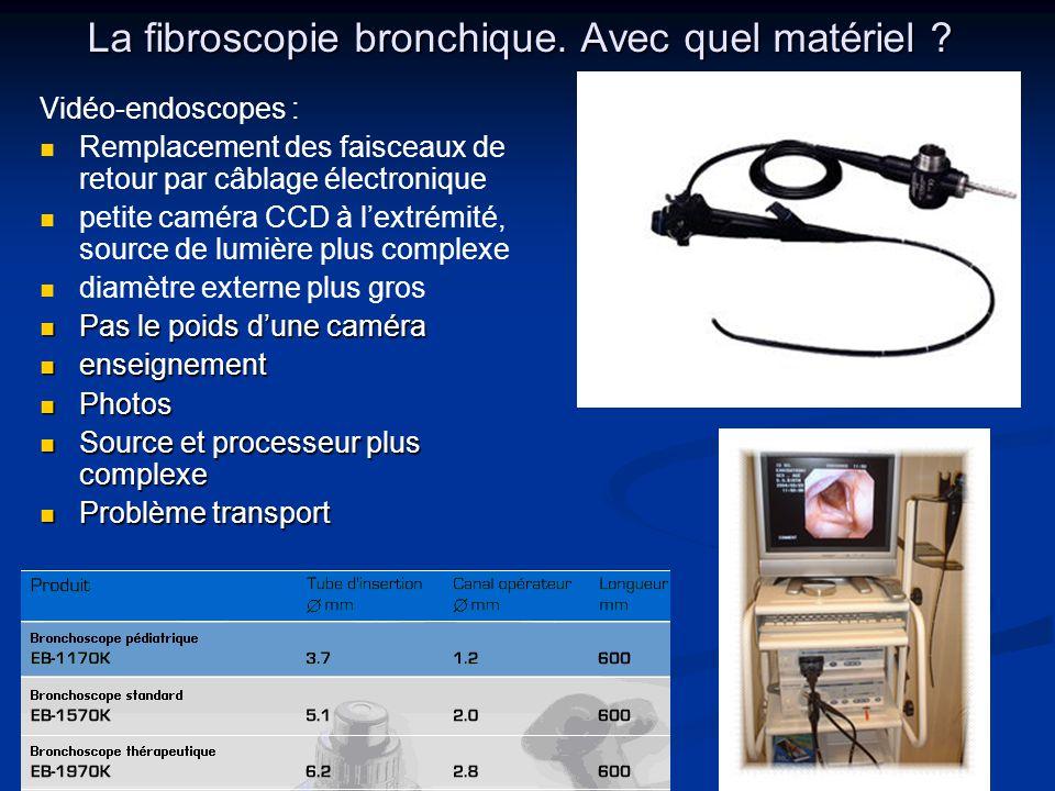 La fibroscopie bronchique. Avec quel matériel