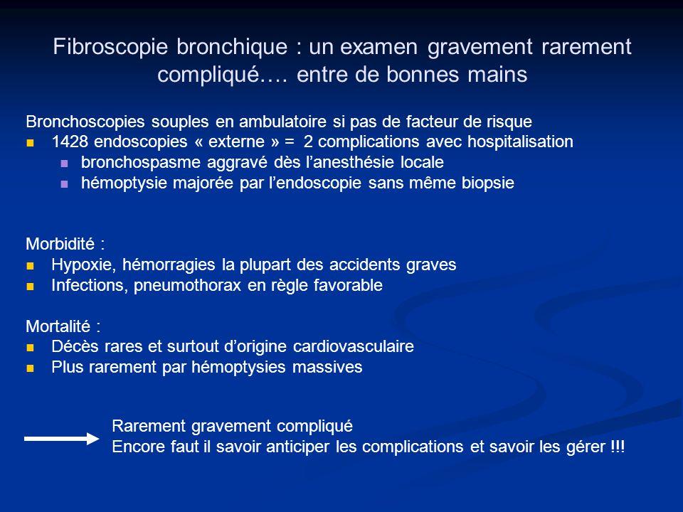 Fibroscopie bronchique : un examen gravement rarement compliqué…
