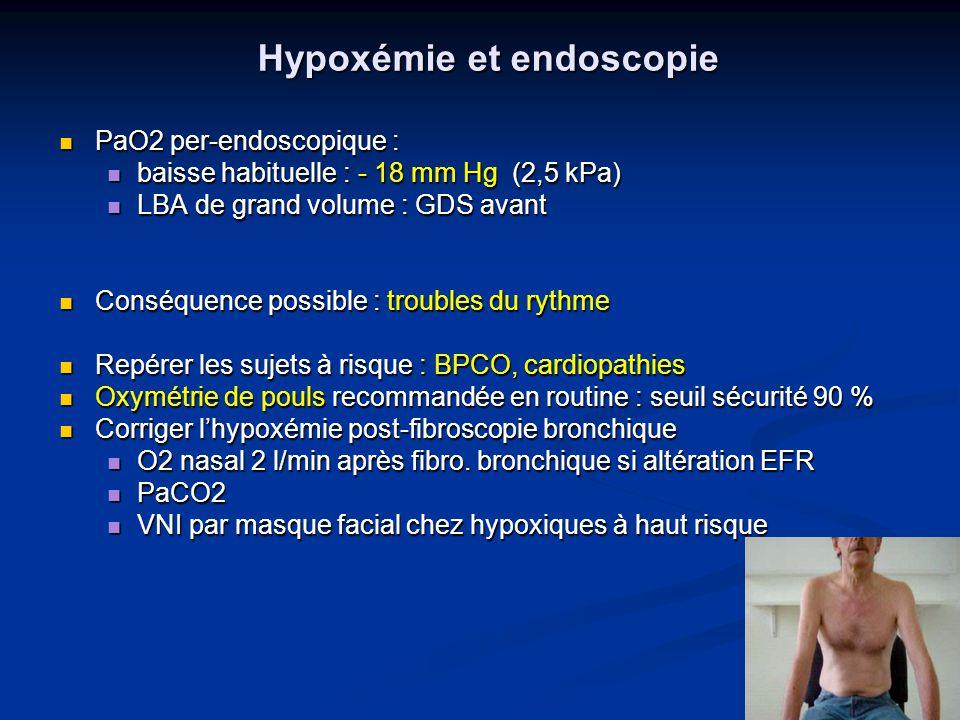 Hypoxémie et endoscopie