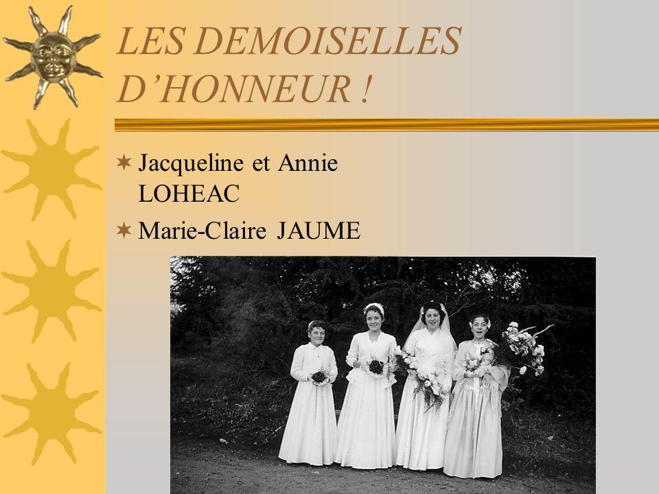 LES DEMOISELLES D'HONNEUR !