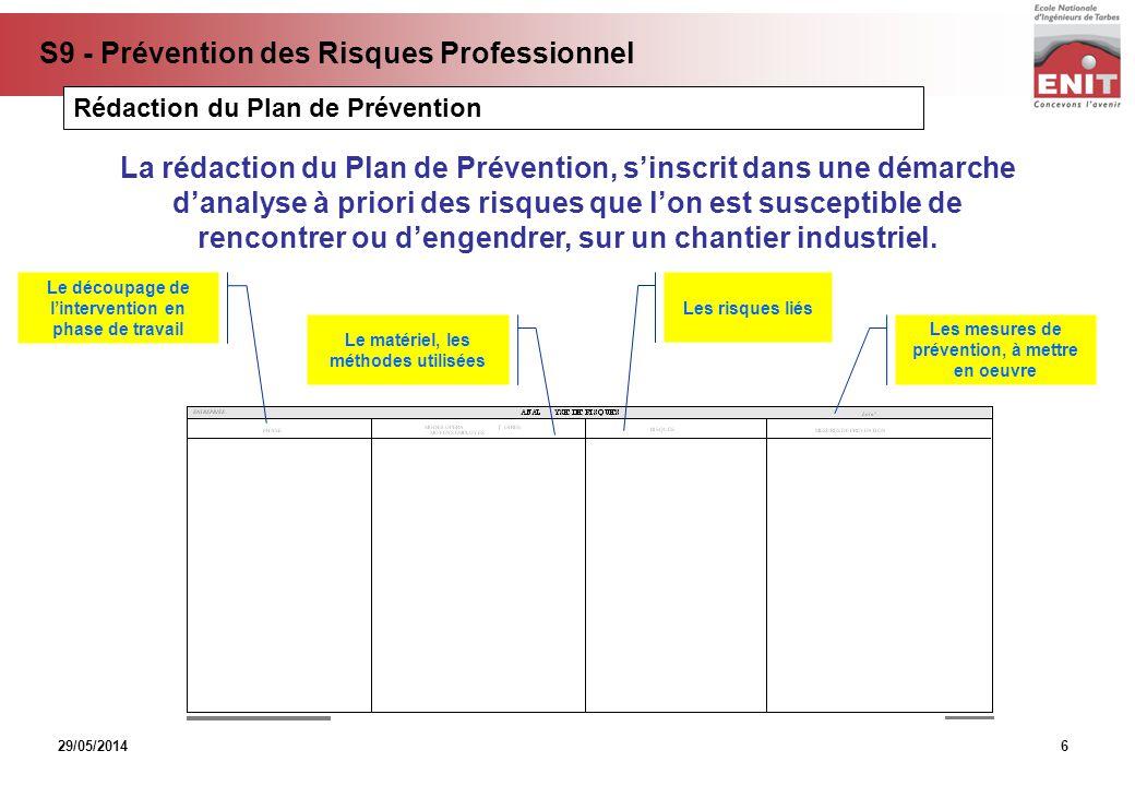 Rédaction du Plan de Prévention