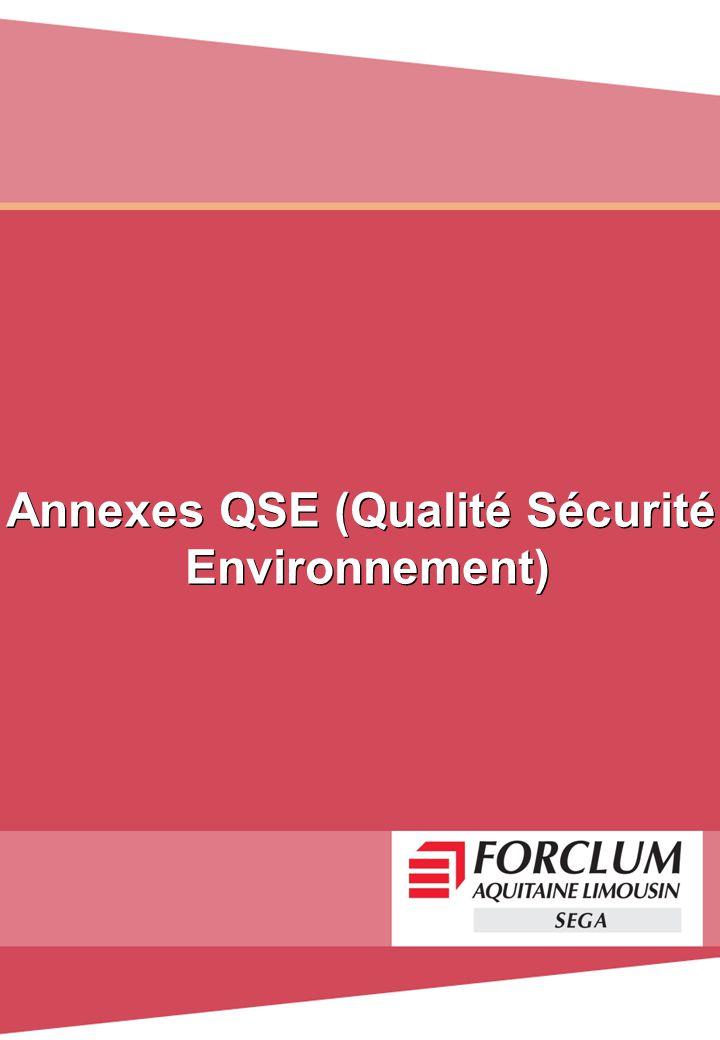 Annexes QSE (Qualité Sécurité
