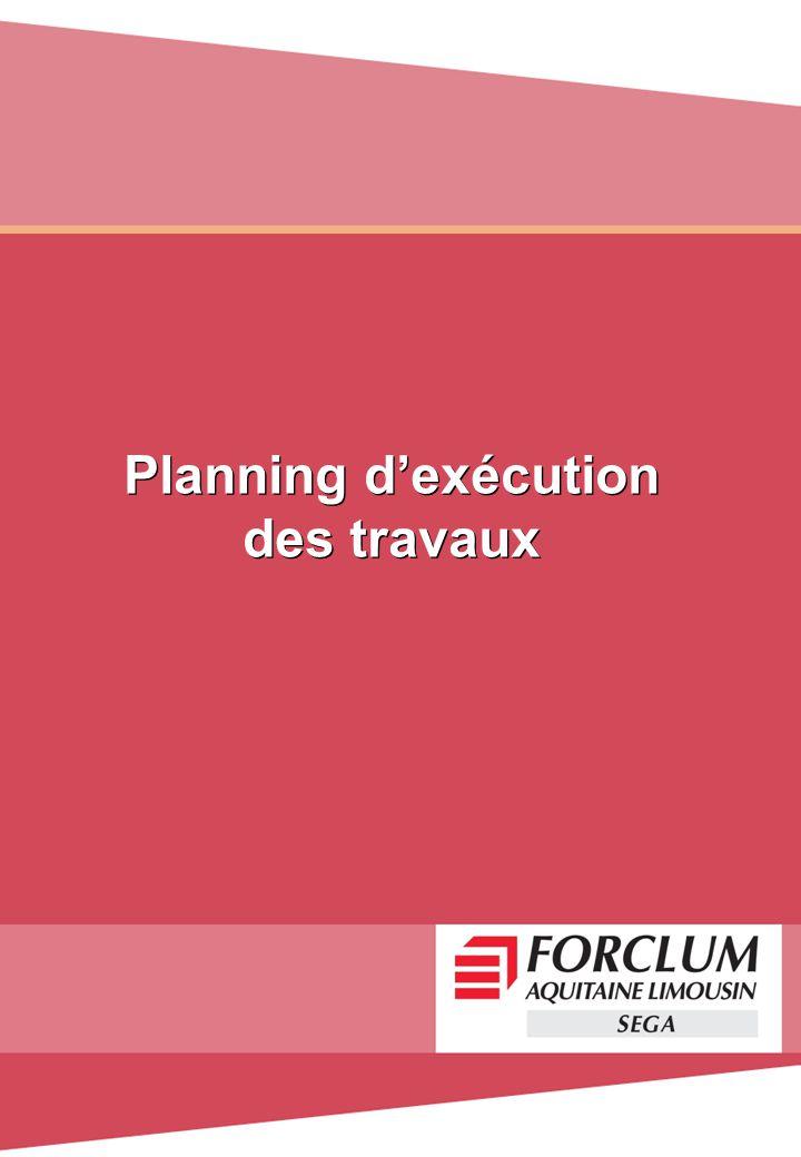 Planning d'exécution des travaux