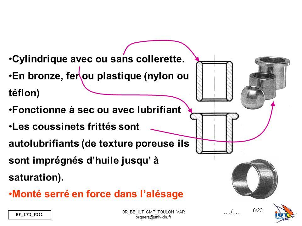 Cylindrique avec ou sans collerette.