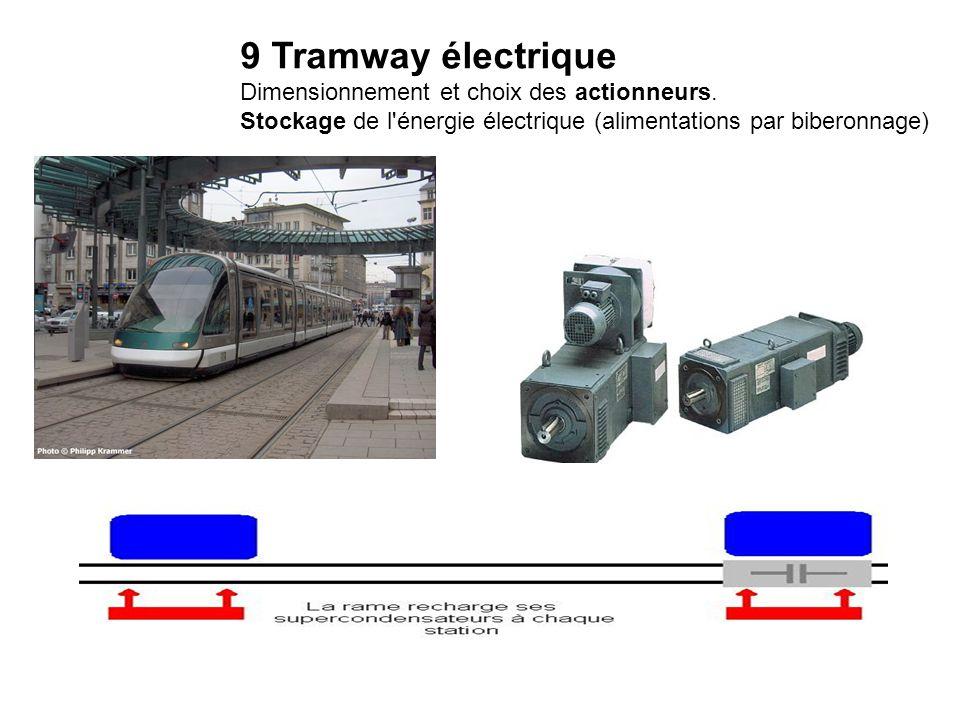 9 Tramway électrique Dimensionnement et choix des actionneurs.