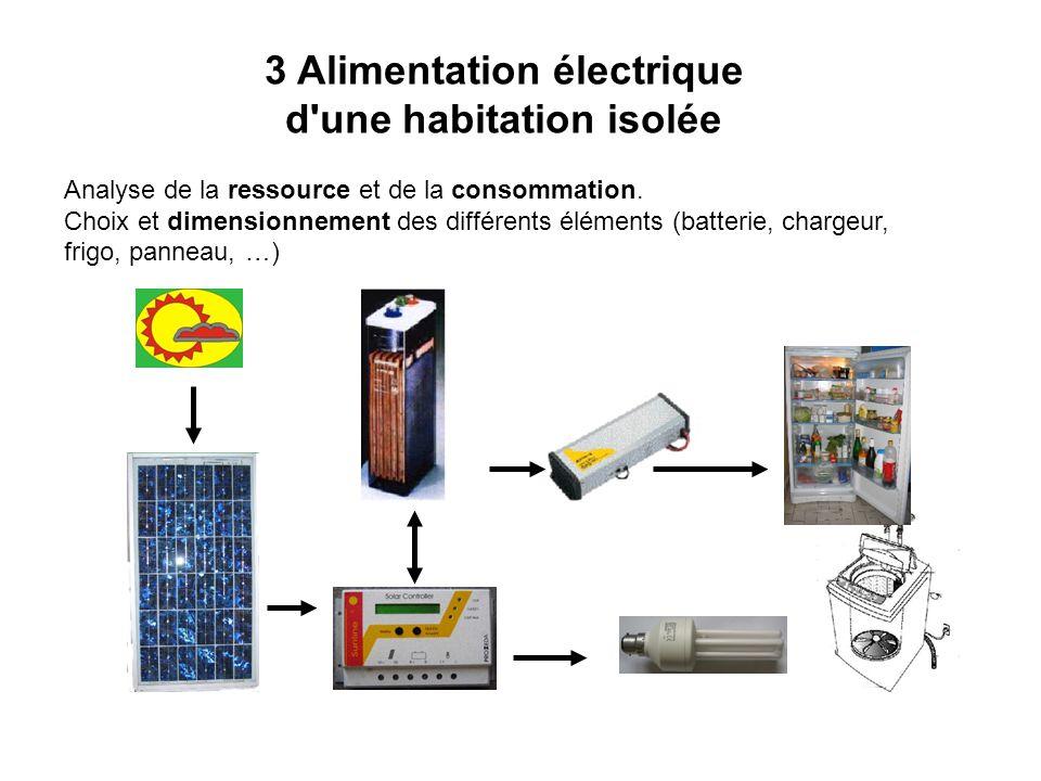 3 Alimentation électrique d une habitation isolée