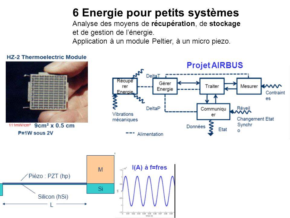 6 Energie pour petits systèmes