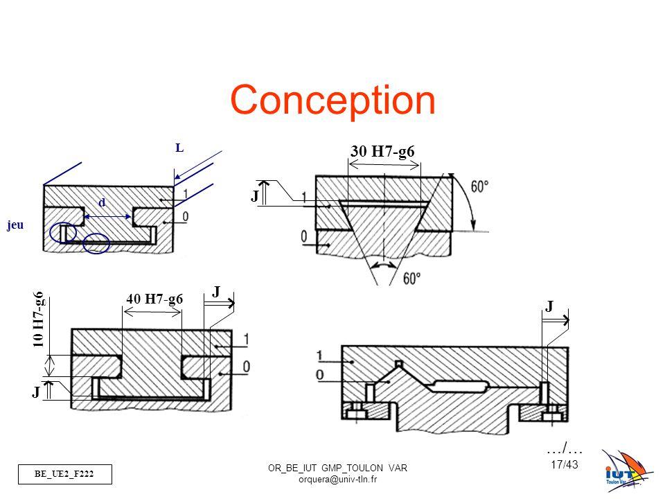Conception L d jeu 30 H7-g6 J 10 H7-g6 J 40 H7-g6 J J …/…
