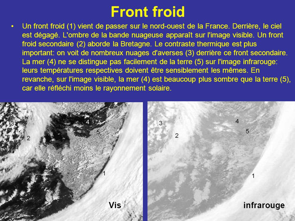 Front froid Vis infrarouge