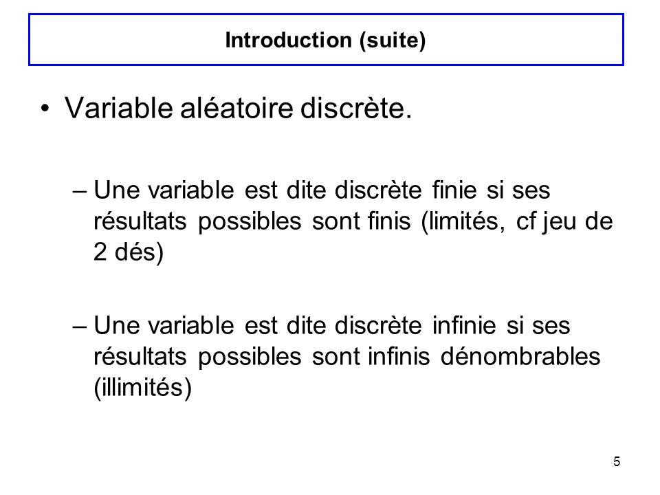 Variable aléatoire discrète.